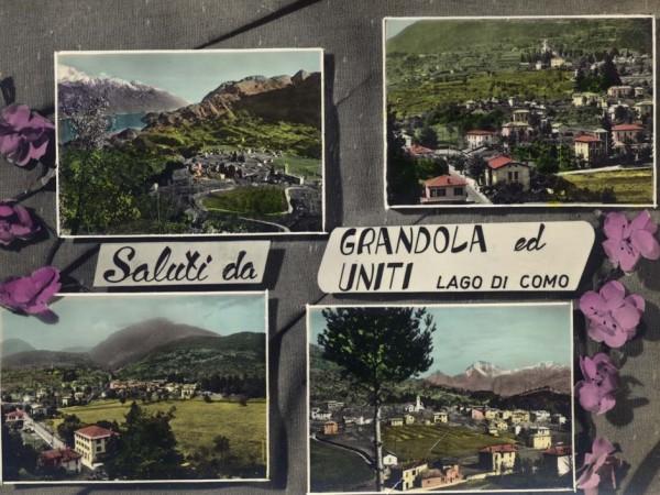 Ecomuseo Val Sanagra - Cartolina di Grandola ed Uniti - primo Novecento