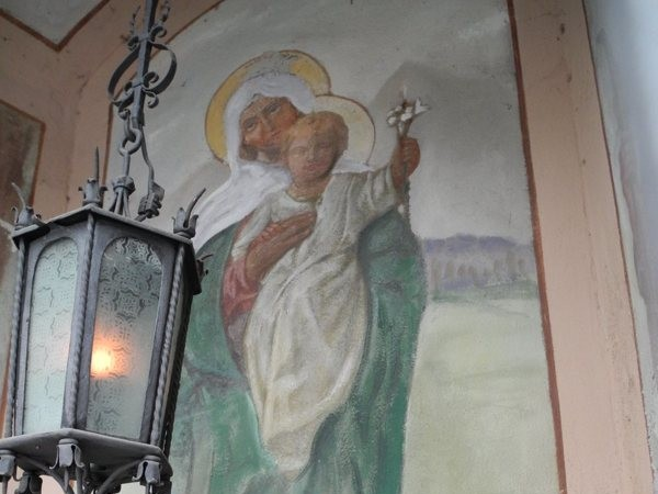 Ecomuseo Val Sanagra - Cappelletta della Croce - Madonna col Bambino
