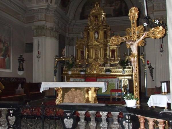 Ecomuseo Val Sanagra - Chiesa dei SS. Siro e Margherita, altare maggiore - Codogna