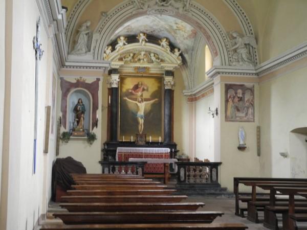 Ecomuseo Val Sanagra - Chiesa della SS. Trinità, interno - Grona