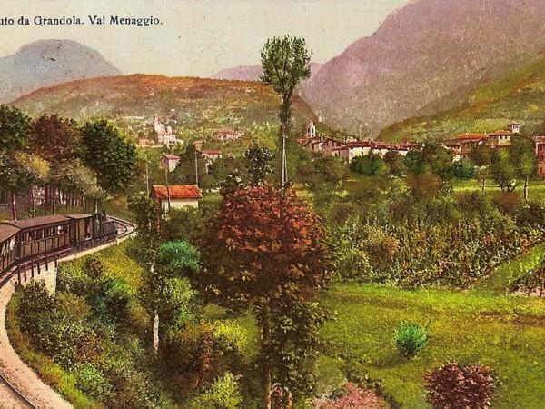Ecomuseo Val Sanagra - Cartolina con la Ferrovia Menaggio - Porlezza
