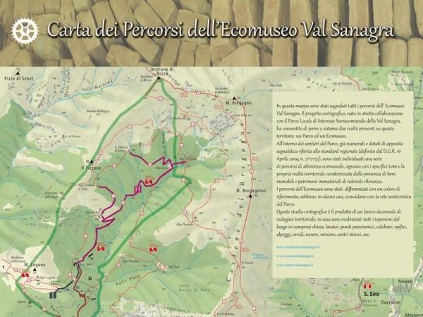 Ecomuseo Val Sanagra - Carta dei Percorsi dell'Ecomuseo Val Sanagra